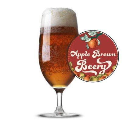 Apple Brown Beery Glass