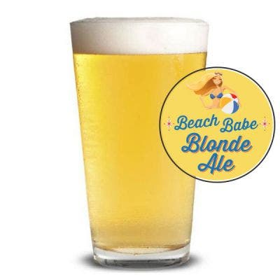 Beach Babe Blonde Glass
