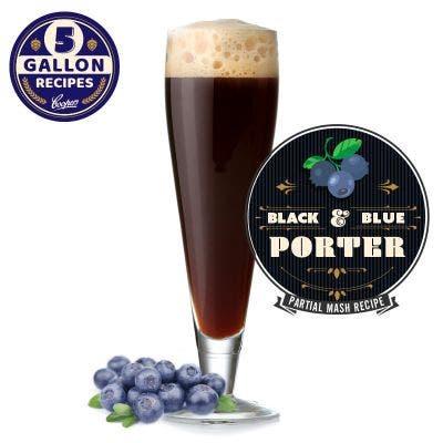 Black & Blue Porter 5 Gallon Recipe