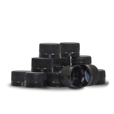 Black Plastic Bottling Caps (Qty. 12)
