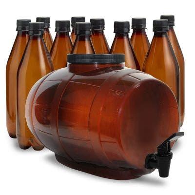 2 Gallon Fermenter & 740mL Bottling System Bundle Pack