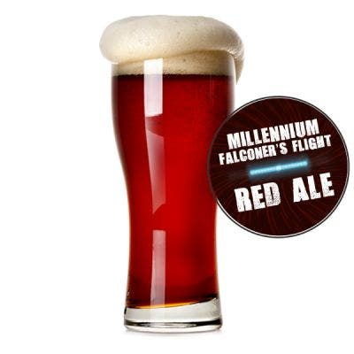 Millennium Falconers Flight Red Glass