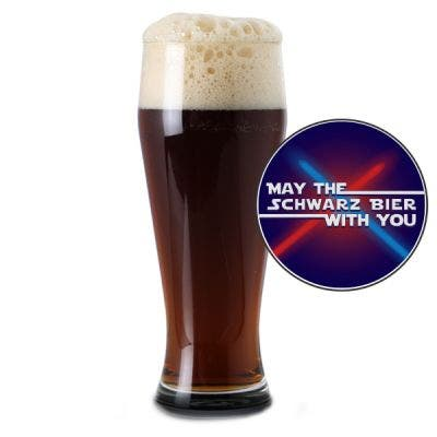 May the Schwarz Bier With You Glass