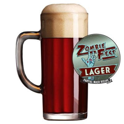 Zombie Fest Lager Glass