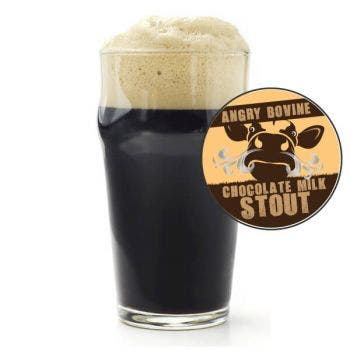Angry Bovine Milk Stout Glass