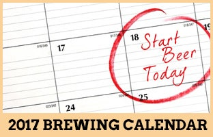 Take a look at our fresh 2017 Brewing Calendar to make sure you know what to brew next